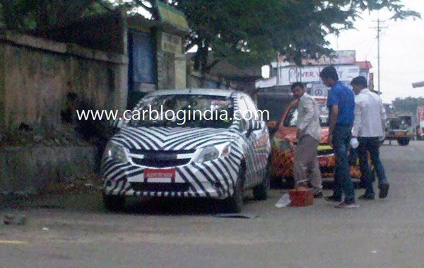 Chevrolet Sail Hatchback And Sedan Spy Pictures (1)