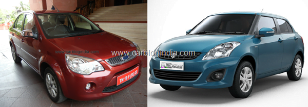 Ford Classic Vs Maruti Swift Dzire
