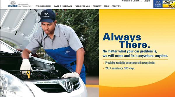 Hyundai Car Service Website