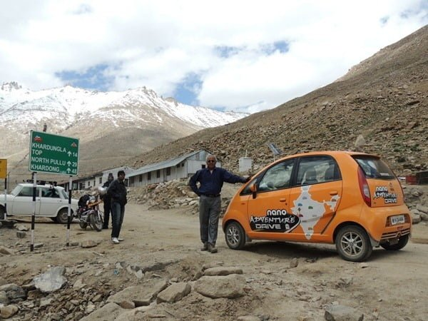 Mr. Chacko on his way to Khardung La