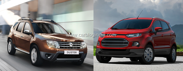 Renault Duster Vs Ford EcoSport–Battle Of The Compact SUVs