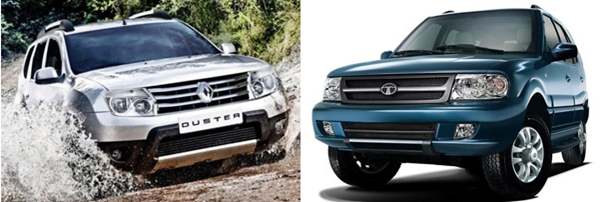 Renault Duster Vs Tata Safari Dicor
