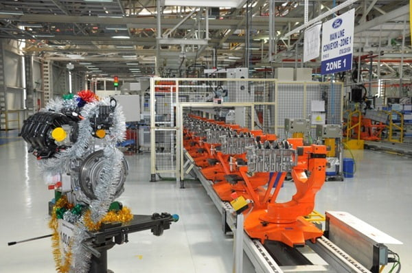 The 100,000th engine rolled out within 14 months of Ford India's engine plant becoming operational
