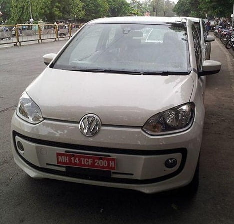 Volkswagne Up Spy Pictures India (2)