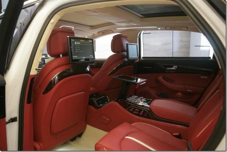 2012 Audi A8 4.2 interior rear