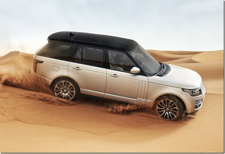 2013 Land Rover Range Rover SUV top angle
