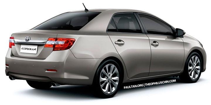 2013 Toyota Corolla Altis Rear
