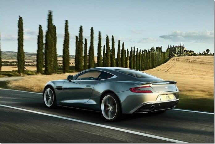 Aston Martin Vanquish 2013 silver
