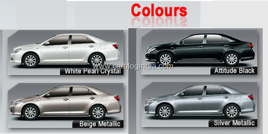 Camry Colour Options