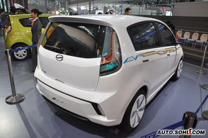 Chevrolet Sail Electric Vehicle rear