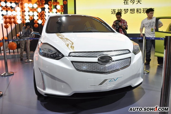 Chevrolet Sail Electric Vehicle