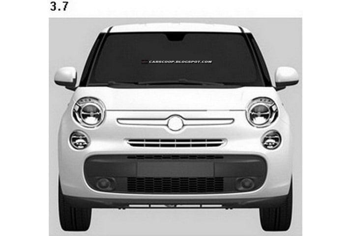 Fiat 500 XL Patent Drawings (2)