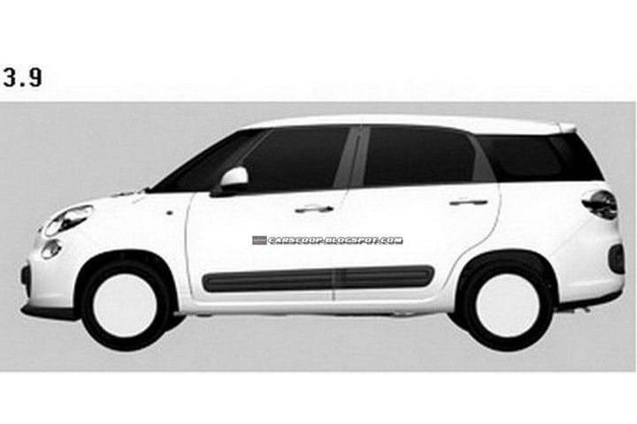 Fiat 500 XL Patent Drawings (4)