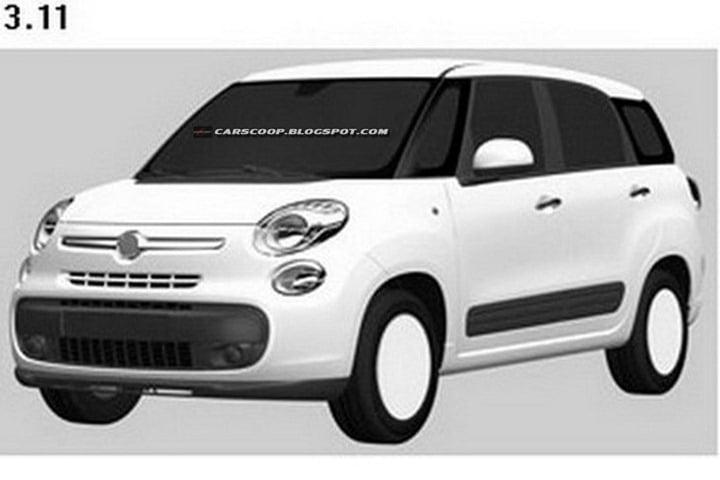 Fiat 500 XL Patent Drawings (7)