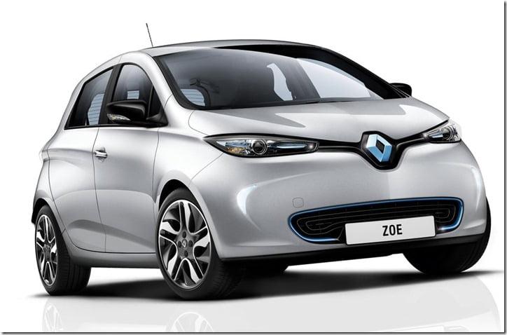 Renault ZOE Small Car angle
