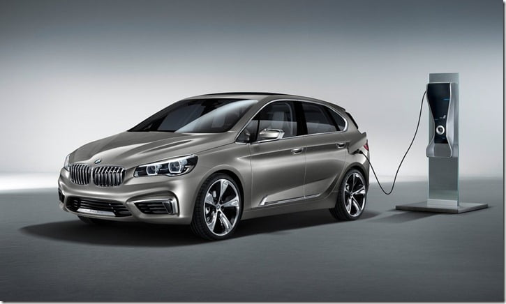 2012 BMW Active Tourer Concept charging