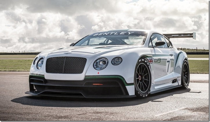 2012 Bentley Continental GT3 Concept front