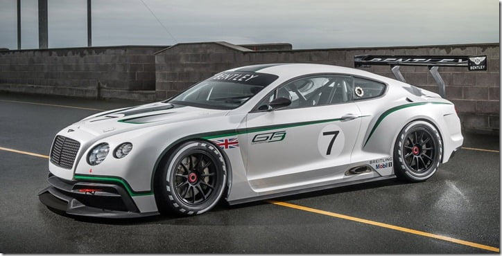 2012 Bentley Continental GT3 Concept side