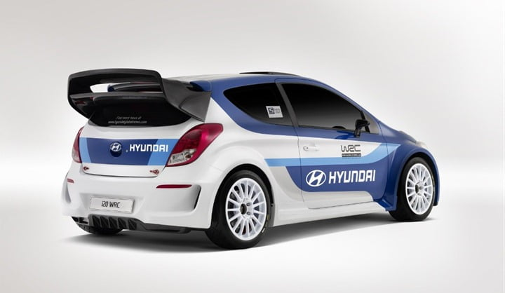 2012 Hyundai i20 WRC Rally Race Car rear