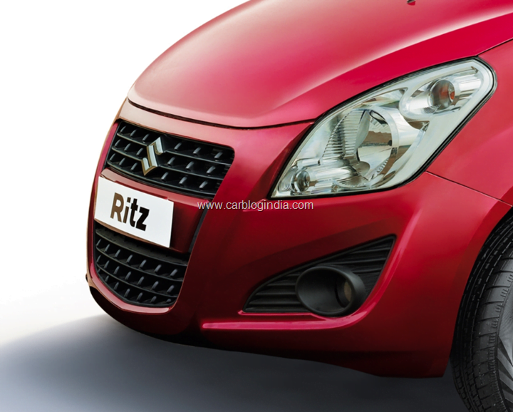 2012 Maruti Ritz Diesel Front head lamps and fog lamps