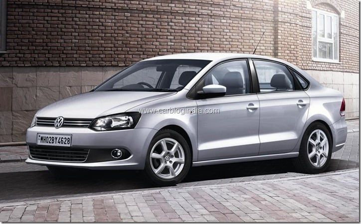 volkswagen polo  vento   features prices cut