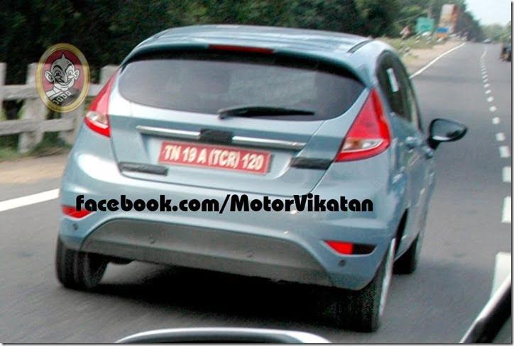 Ford Fiesta Hatchback Spied In India