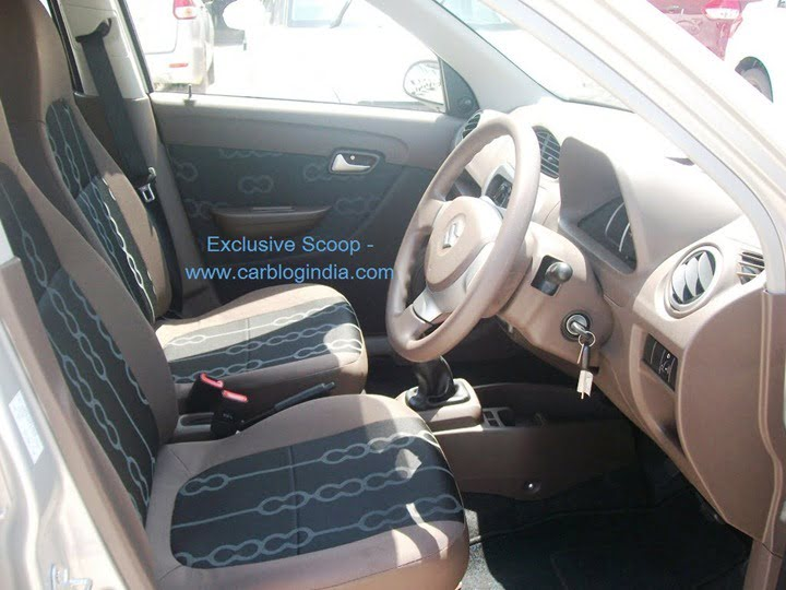 2012 maruti alto 800 interior pictures and features spied for Maruti 800 decoration