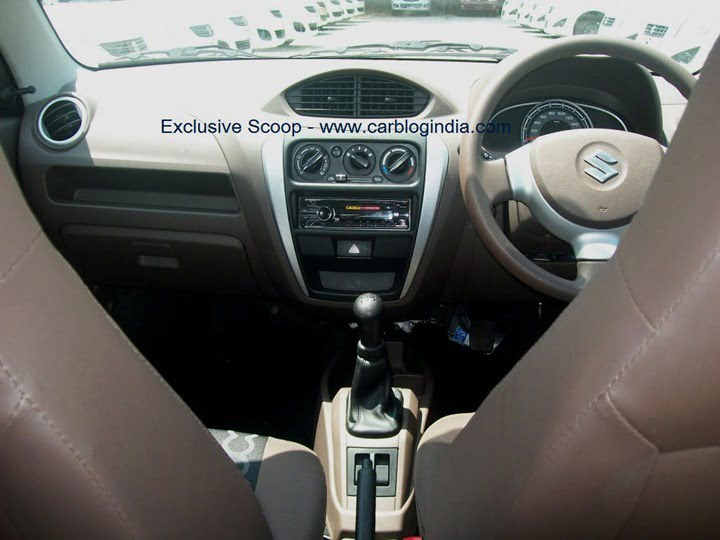 2012 maruti alto 800 interior pictures and features spied details. Black Bedroom Furniture Sets. Home Design Ideas