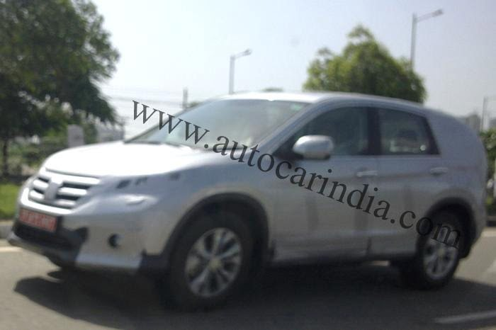 Next Generation 2012 Honda CR-V Spied In India front
