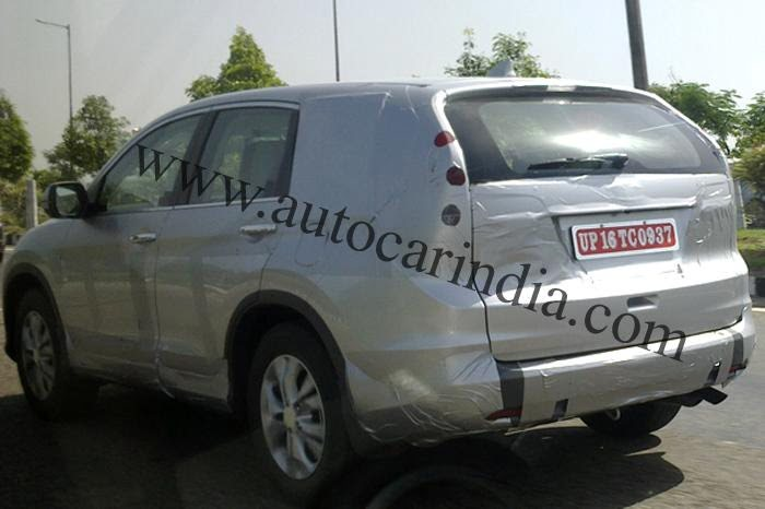 Next Generation 2012 Honda CR-V Spied In India rear