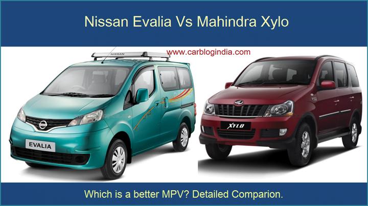 Nissan Evalia Vs Mahindra Xylo