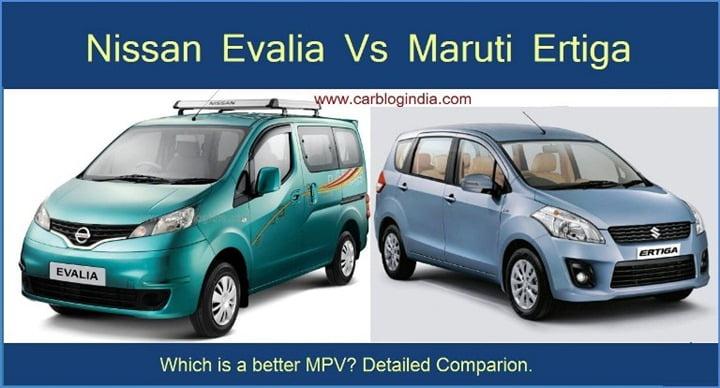 Nissan Evalia Vs Maruti Ertiga