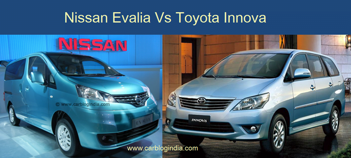Nissan Evalia Vs Toyota Innova