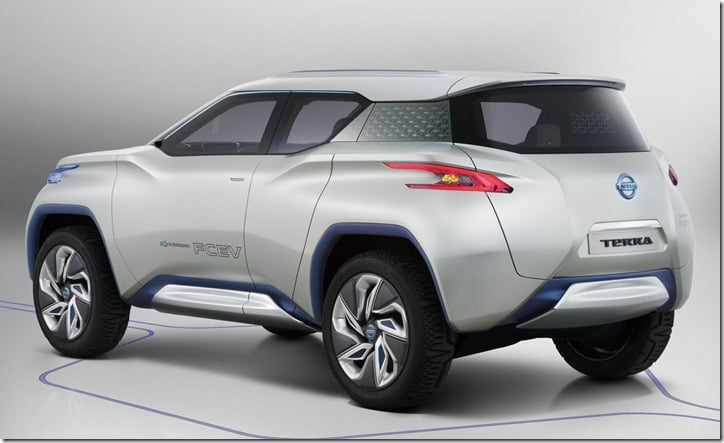 Nissan Terra Concept Side View rear