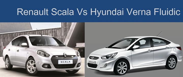 Renault Scala Vs Hyundai Verna Fluidic