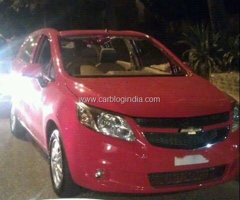 Chevrolet Sail UVA Spy Picture
