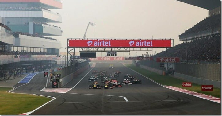 2012 Indian Formula One Race Start