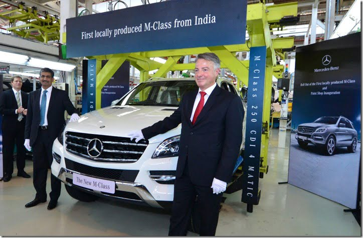 Mercedes benz india starts local production of m class suv for Ralf benz