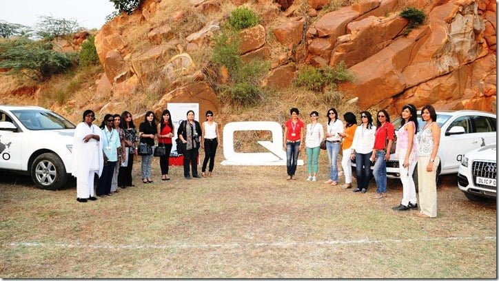 Audi Women's Power Drive- Actress Gul Panag with the participants
