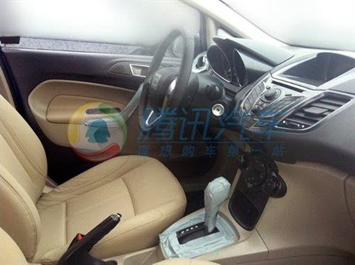 Ford Fiesta Sedan Facelift Caught Testing interior