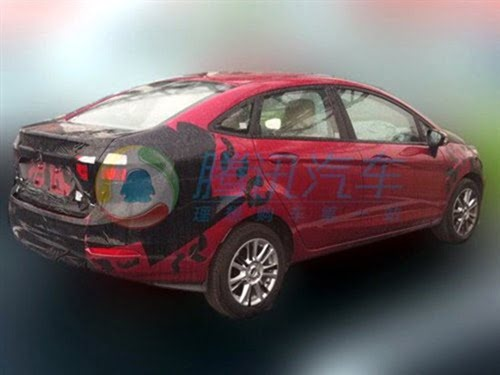 Ford Fiesta Sedan Facelift Caught Testing side