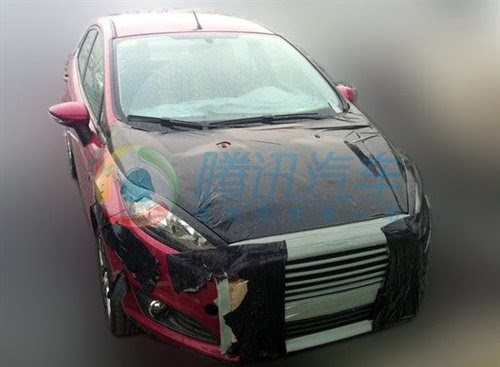 Ford Fiesta Sedan Facelift Caught Testing