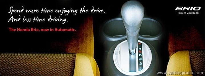 Honda Brio Atromatic Launch In India
