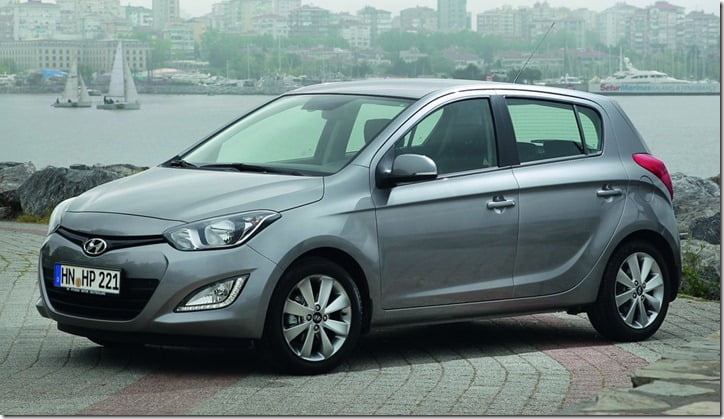Hyundai i20 with LED Fog lamps