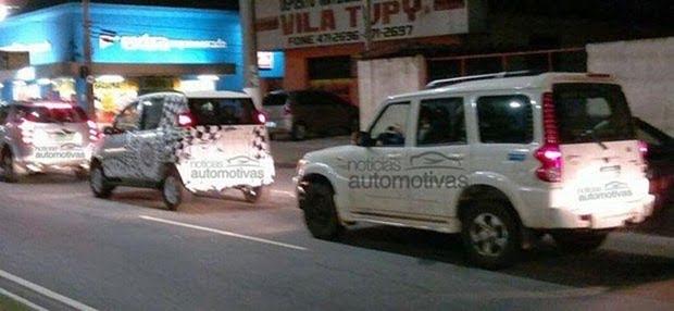 Mahindra Quanto Brazil Spy Shot rear