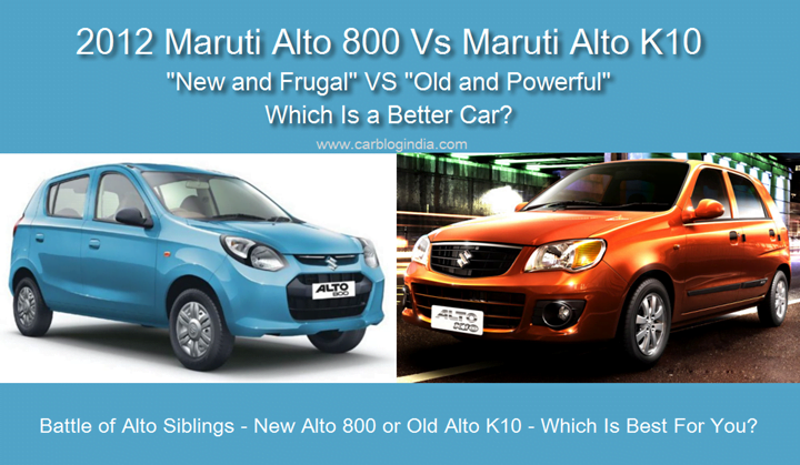 Maruti Alto 800 Vs Maruti Alto K10 Detailed Comparison