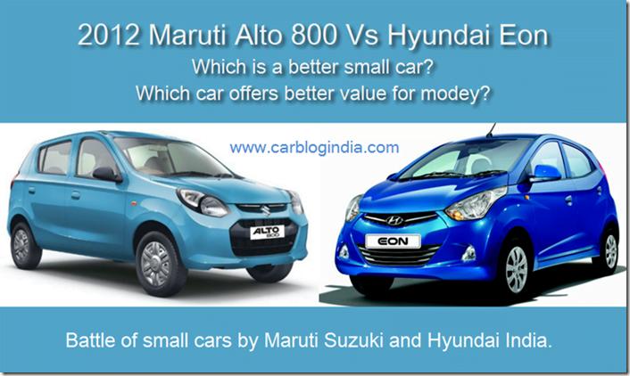 Maruti Alto 800 vs Hyundai Eon