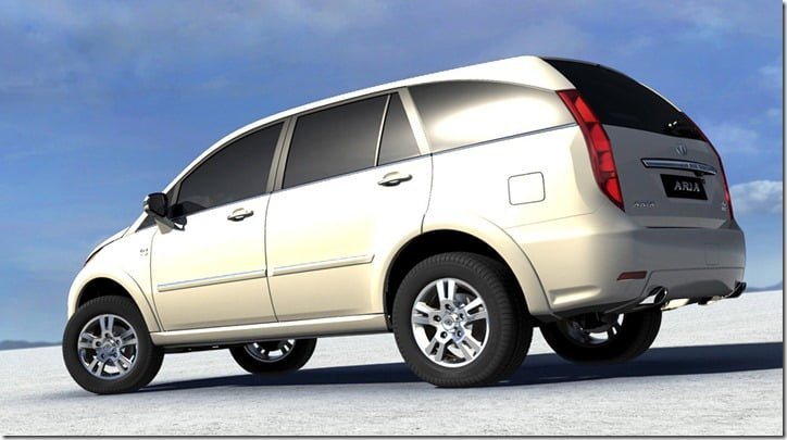 Tata Aria low cost model rear