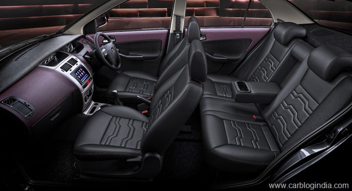 Tata Manza -  Black and Plum Interiors