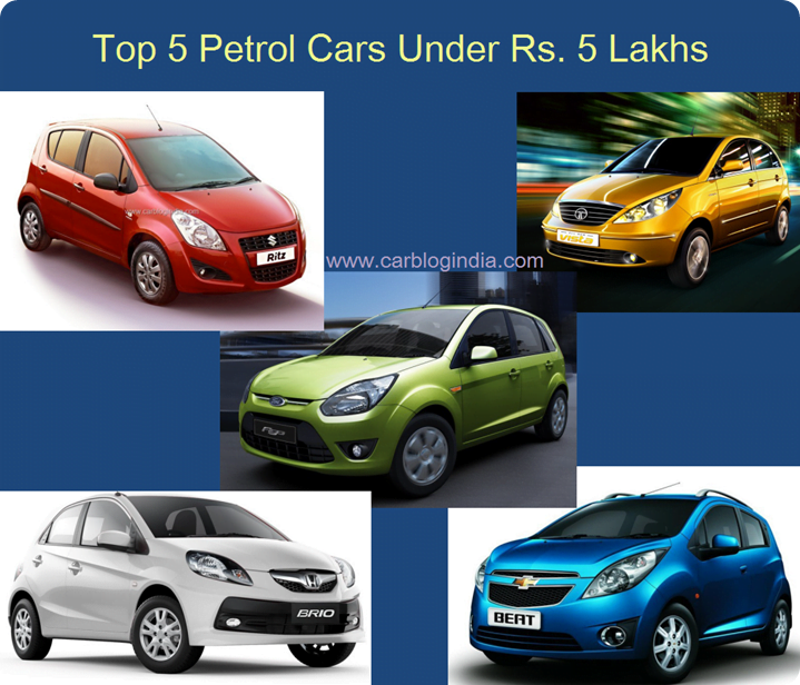 Best 5 Petrol Cars In India Under Rs. 5 Lakh